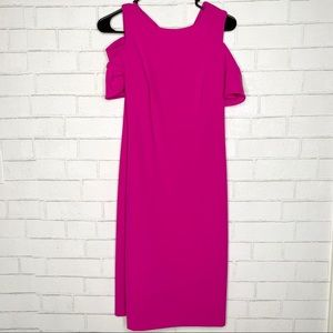 Calvin Klein Midi Hot Pink Dress